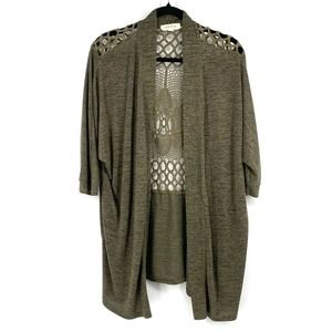 Painted Threads dolman open front long cardigan M